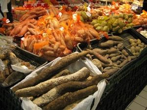 Cassava in market